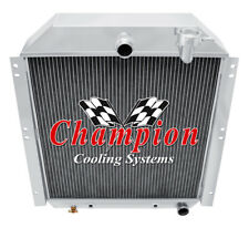 47 48 49 50 51 52 53 54 Gmc Pickup Truck Champion 3 Row Aluminum Radiator Cc4754 (Fits: Truck)