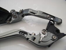 Triumph 675 STREET TRIPLE (08-15), levers fold/extend titanium/chrome, F14/T333