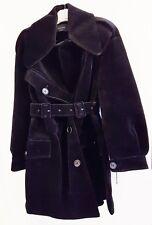 SIMONE ROCHA Jacket Coat Black Velvet Biker Style $2050 Retail - Size 4