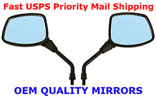 Pair of Black Square Head Motorcycle Mirrors - Kawasaki KLR250 KLR600 KLR650