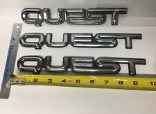 93-98 Nissan Quest Used Chrome Emblems 3 Symbol Lot, Badge Logo nameplate oem