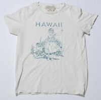 Men's THE GOLDEN STATE REMI RELIEF White T-Shirt Hawaii Short Sleeve Size XS