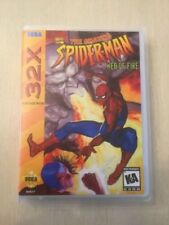 Universal Sega 32X Replacement Case - Amazing Spider-Man: Web Of Fire (NO GAME!)