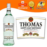 PERSONALISED WHITE RUM BOTTLE LABEL BIRTHDAY CHRISTMAS ANY OCCASION GIFT