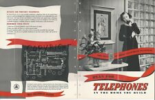1952 BELL TELEPHONE Plan Your Home Wiring & Phone System RETRO Vintage Catalog