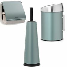 Brabantia Toilet Bathroom Set Brush Paper Holder Wall Bucket Metallic MINT