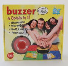 Buzzer 4 Spiele in 1 Elektronikspiel Wissensspiel Tempospiel Beluga