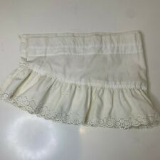 New listing Vintage Valance Curtain 1 panel white with ruffled edging 64� long 12� height