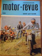 Tschechoslowakische MOTOR REVUE Nr. 5 - 1981 Eisspeedway Skoda CZ 472.5