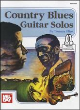 Country Blues Guitar Solos TAB Music Book with Audio by Tommy Flint