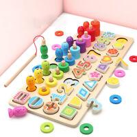 Kid Montessori Math Toys Counting Board Digital Shape Pairing Preschool