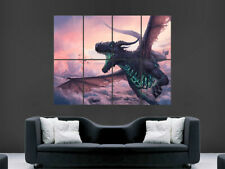 DRAGON FANTASY POSTER GIANT WALL ART PICTURE PRINT LARGE HUGE