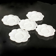 5pcs White Acrylic Color Mixing Paint Draw Nail Art Design Palette Dish Flower