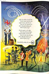 Original Vintage 50s Shell British Coronation Advert Picture Post Magazine 1953