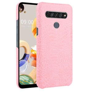 For LG K51S K61 K41S Stylo 5 K40 V50 G8S ThinQ Q7 G7 Crocodile Leather Hard Case