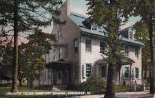 Postcard Lancaster College Dormitory Building Lancaster PA