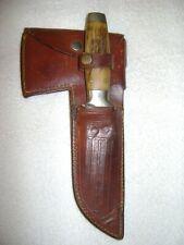 CASE XX 1930s STAG HANDLE INTERCHANGE HATCHET/FIXED BLADE KNIFE COMBO W/SHEATH