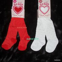SOFT TOUCH BABY GIRL SHINY RED OR WHITE TIGHTS-NEWBORN-24 M'TH-VERY CUTE - NEW