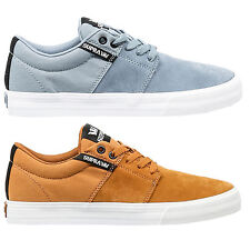 Supra Mens Stacks Vulc II Lace Up Active Gym Low Light Blue Red Trainers