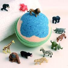 KIDS Big Bath Bomb with Wild Animal Replica Bath Toy Inside