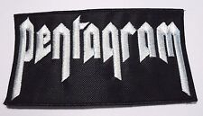 pentagram  white logo  EMBROIDERED  PATCH