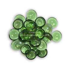 50 Green Glass Round Pebbles, Nuggets, Stones, Beads for Crafts or Garden