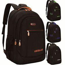 Unisex Backpack Waterproof Laptop Casual Travel Student Bag Large Capacity Grey