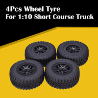 AUSTARHOBBY AX-3006 4Pcs RC Wheel 1:10 Short Course Rubber Tyre For Traxxas Car