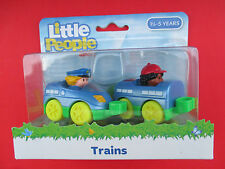 """FISHER PRICE-LITTLE PEOPLE """"TRAINS"""" 11/2-5 YEARS SEALED NEW"""