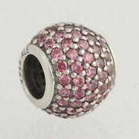New Pandora Bead Charm - Sterling Silver 791051CZS Pave Lights Pink CZ ALE 925