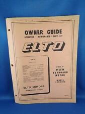 OUTBOARD BOAT MOTOR OWNER GUIDE MANUAL PARTS LIST 35 H.P. 35DE10E