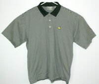 Vtg Men's Masters Augusta National Golf Shop Green White Stripe Polo Shirt Sz XL
