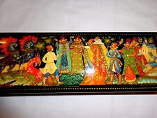 NEW COLLECTIBLE RUSSIAN PALEKH LACQUER  JEWELRY OR PENCIL BOX KONEK GORBUNOK