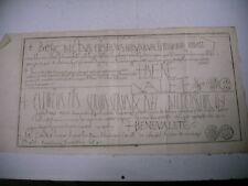 litho ancienne 1750 bulle papes Benoit VIII clément II  traité de diplomatique