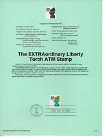 Estados Unidos Antorcha de la Libertad hoja primer día año 1991 (CS-315)