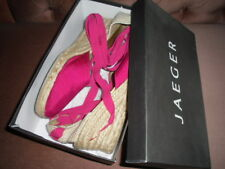 JAEGER FUSCHIA SILK WEDGE ESPADRILLE, EU 41/UK 8, WORN TWICE, SUMMER WEAR