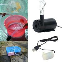 USB Cable Mute Small Water Pump Mini Submersible Pump Fish Pond Durable W4B0