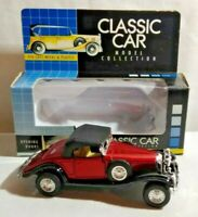 CLASSIC CAR 1:38 DIECAST 1931 CLASSIC COUPE WITH OPENING DOORS - BOXED