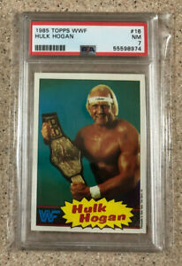 1985 Topps WWF Hulk Hogan Card #16 PSA 7 NM Rookie RC WWE HOF Card