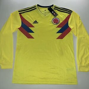 2018 Men's Adidas World Cup Colombia Home Soccer Jersey Kit Size Large NEW Rare