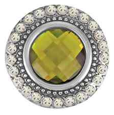 Buy 4, Get 5Th $6.95 Snap Free Ginger Snaps™ Jewelry Heirloom-Olivine/Clear