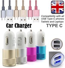 Samsung Galaxy S8/S9 Plus Note8 Fast Charge In Car Charger +Braided Type-C Cable