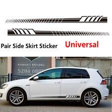 Car Styling Side Skirt Black Decoration Sticker Stripes Waterproof Vinyl Decals