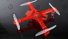 FPV250 QuadroCopter, X-Copter Rahmen / Frame in Farbe ROT, FPV-Drone, 250mm Groß