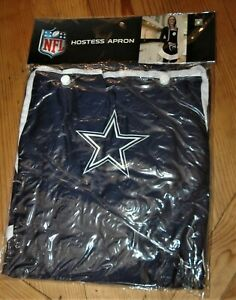 Dallas Cowboys women's HOSTESS APRON one size fits most NEW NFL Christmas BLUE