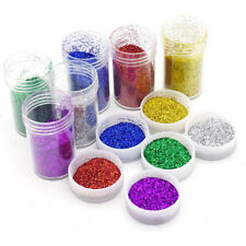 NEW Arrival!6 Colours Glitter Dust Powder Pots Set Nail Art Tips Decor/Crafts