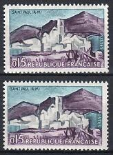 "FRANCE STAMP TIMBRE 1311 "" SAINT PAUL DE VENCE VARIETE COULEUR"" NEUFxx SUP  M373"