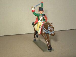 348P Starlux Lead Painted Horse + Lancer 1er Regiment 1er Empire H 6,4 CM