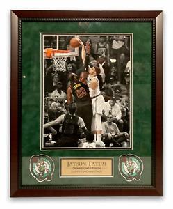 Jayson Tatum Photo Custom Framed to 16x20 Dunks Boston Celtics