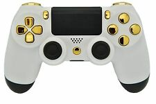 WHITE & GOLD PS4 MODDED RAPID FIRE CONTROLLER - BEST MODS / FAST SHIP!
